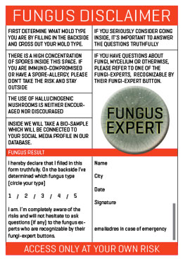 Martijn Engelbregt, EGBG, Fungus Test, fungustest, fungus rush course, mold, type, visitor